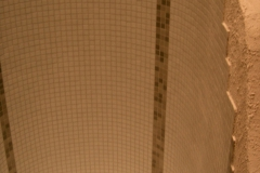 Duschwandgestaltung ohne Ecken / Wellnessdesign